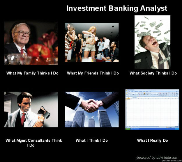 Dating a corporate banker meme