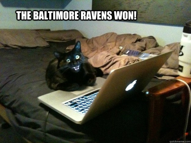 the baltimore ravens WON!