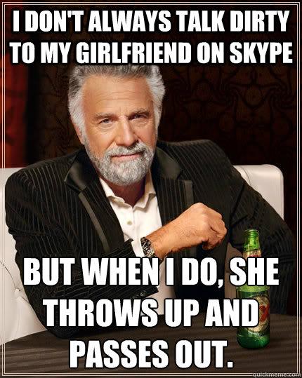 Skype dirty talk