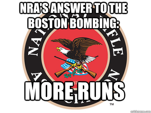 NRA's answer to the Boston bombing: More runs