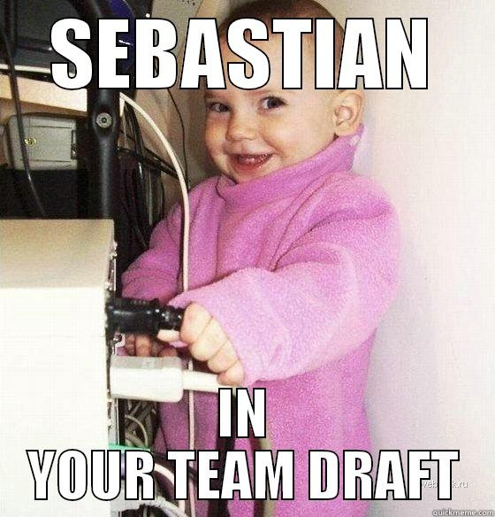SEBASTIAN IN YOUR TEAM DRAFT Troll Baby