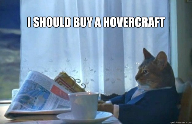 I SHOULD BUY A HOVERCRAFT - I SHOULD BUY A HOVERCRAFT  Sophisticated Cat