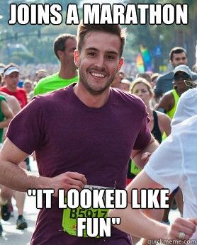joins a marathon
