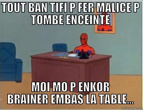 Moris spidey - TOUT BAN TIFI P FER MALICE P TOMBE ENCEINTE MOI MO P ENKOR BRAINER EMBAS LA TABLE... Spiderman Desk