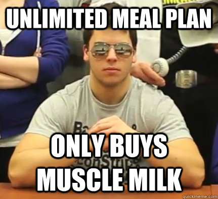 UNLIMITED MEAL PLAN ONLY BUYS MUSCLE MILK