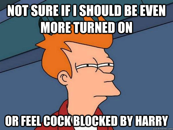 Not sure if I should be even more turned on or feel cock blocked by Harry - Not sure if I should be even more turned on or feel cock blocked by Harry  Futurama Fry