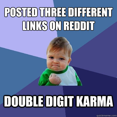 how to get karma on reddit quickly