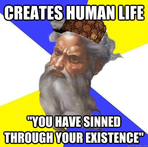creates human life