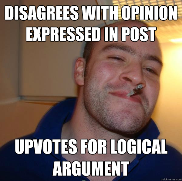 Disagrees with opinion expressed in post Upvotes for logical argument - Disagrees with opinion expressed in post Upvotes for logical argument  Misc