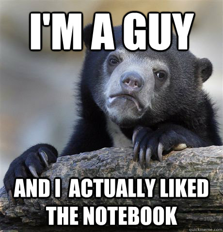I'm a guy And i  actually liked the notebook - I'm a guy And i  actually liked the notebook  Confession Bear
