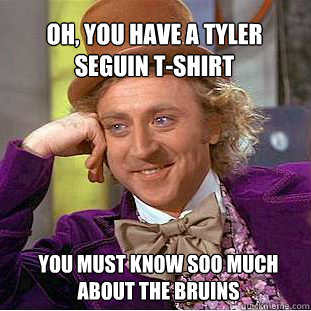d597ef1a85c3dcf07bd37fc206b14c6527ede6746db7970611b6105ff5fa9b01 oh, you have a tyler seguin t shirt you must know soo much about