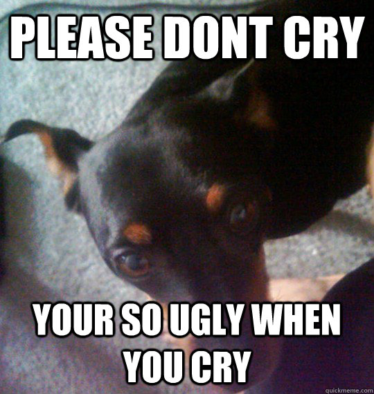 your so ugly when you cry
