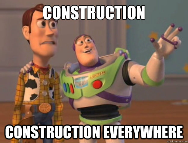 Construction Construction Everywhere - Construction Construction Everywhere  Sunburns Everywhere