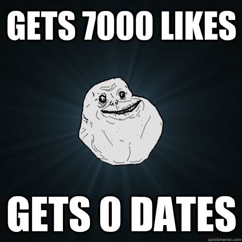 Gets 7000 Likes Gets 0 Dates  Forever Alone