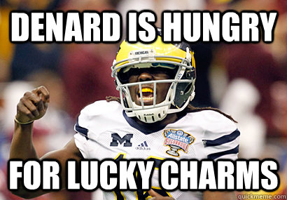 Denard is Hungry For Lucky charms
