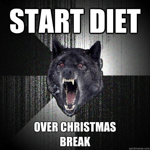 Start diet  over Christmas  break - Start diet  over Christmas  break  Insanity Wolf