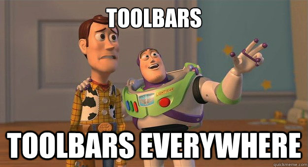 Toolbars Toolbars Everywhere - Toolbars Toolbars Everywhere  Marshmallows. Marshmallows everywhere.