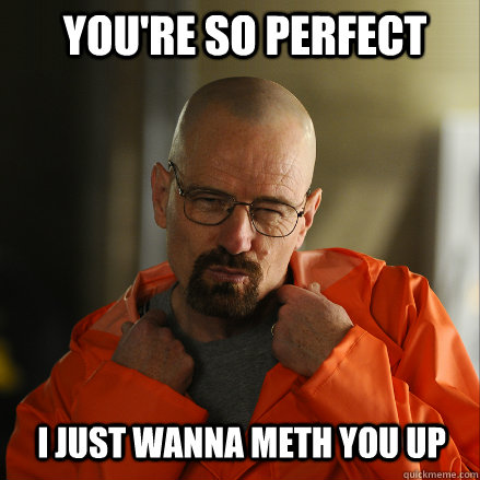 You're so perfect i just wanna meth you up