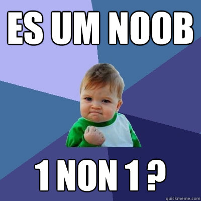 es um noob 1 NON 1 ?  Success Kid