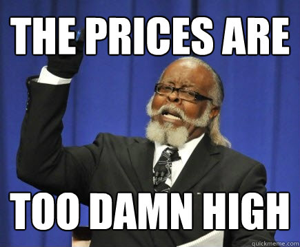 The prices are too damn high - The prices are too damn high  Too Damn High