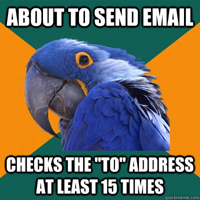 About to send email checks the