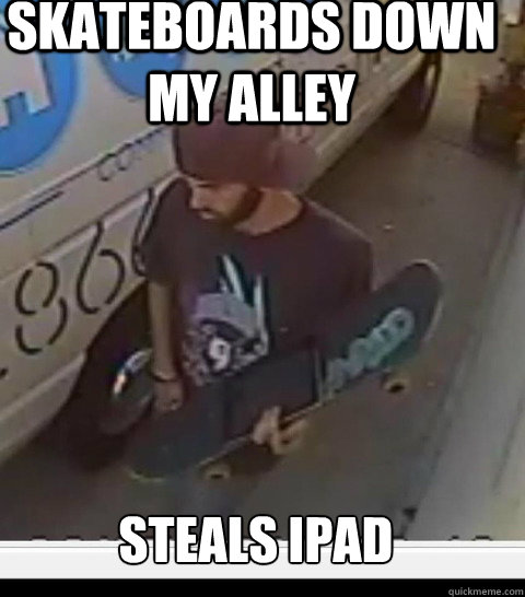 Skateboards down my alley Steals ipad