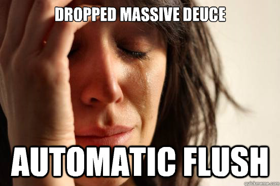 Dropped massive deuce Automatic flush - Dropped massive deuce Automatic flush  First World Problems