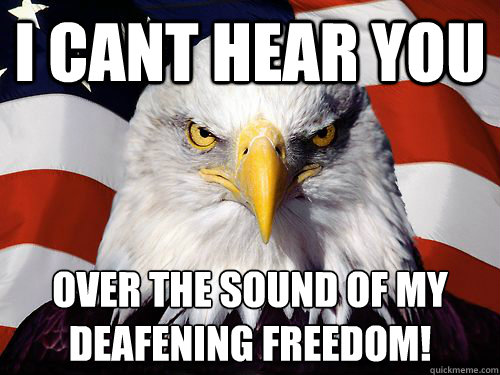 I cant hear you Over the sound of my deafening freedom!
