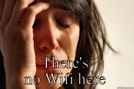 THERE'S NO WIFI HERE First World Problems