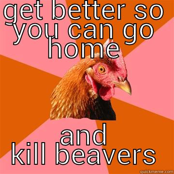 gall blatter don't matter no more - GET BETTER SO YOU CAN GO HOME AND KILL BEAVERS Anti-Joke Chicken