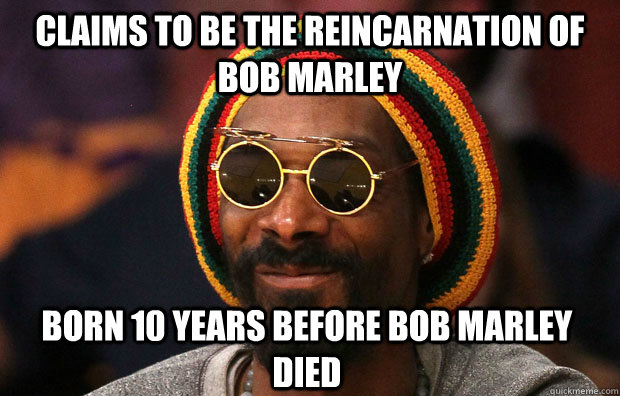 Claims to be the reincarnation of bob marley born 10 years before bob marley died
