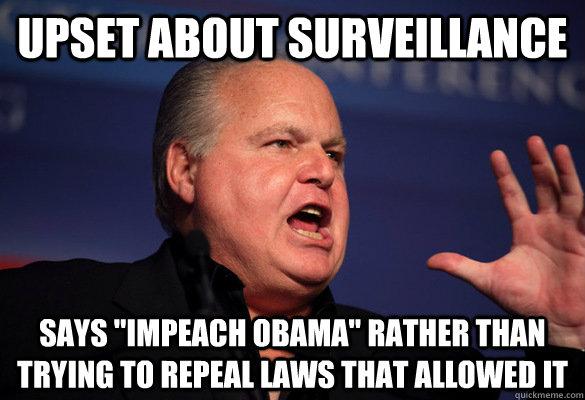 Upset about surveillance Says