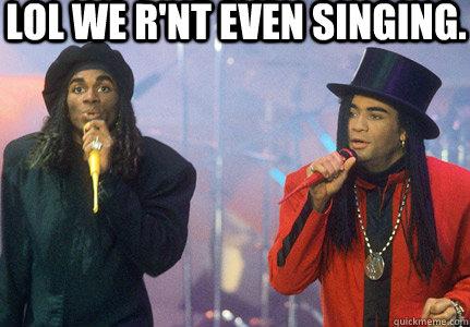 LOL we r'nt even singing.