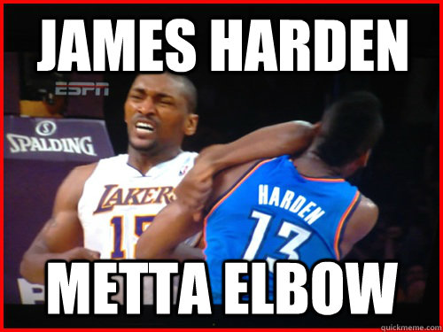 58c1e13e323c James Harden METTA ELBOW - Metta World Peace - quickmeme