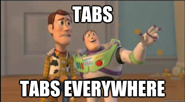 TABS TABS EVERYWHERE - TABS TABS EVERYWHERE  X, X Everywhere
