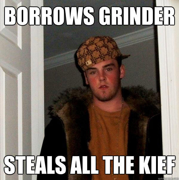 borrows grinder Steals all the Kief - borrows grinder Steals all the Kief  Scumbag Steve
