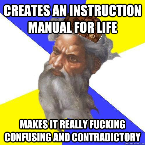 Creates an instruction manual for life Makes it really