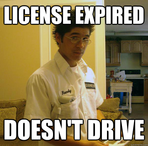 License Expired doesn't drive