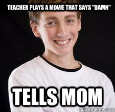 teacher plays a movie that says