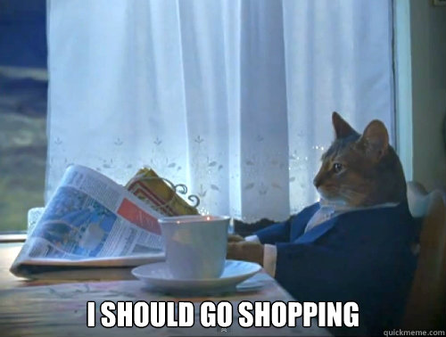 I should go shopping -  I should go shopping  The One Percent Cat
