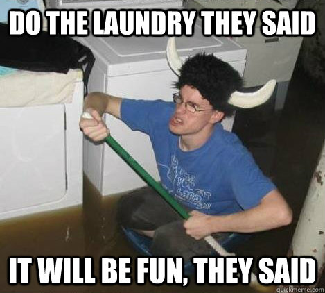 Do the laundry they said It