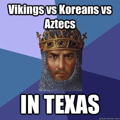 Vikings vs Koreans vs Aztecs IN TEXAS - Vikings vs Koreans vs Aztecs IN TEXAS  Age of Empires