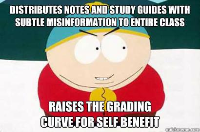 Image result for grading on a curve meme