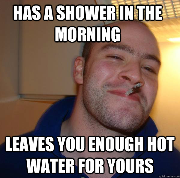 Has a shower in the morning leaves you enough hot water for yours - Has a shower in the morning leaves you enough hot water for yours  Misc