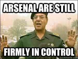 Arsenal are still firmly in control