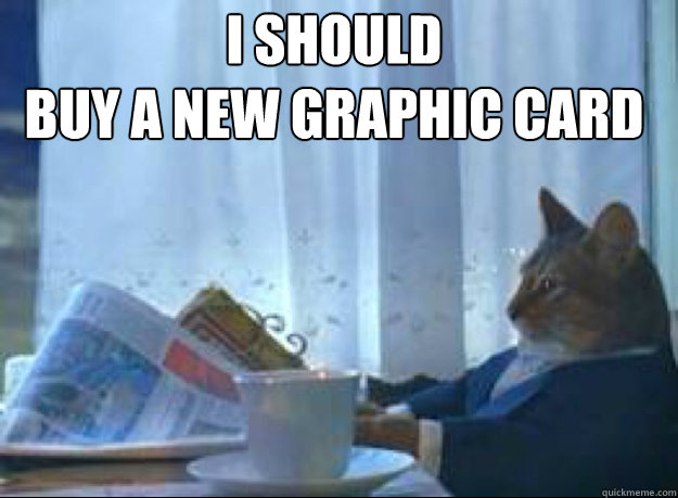 I should  buy a new graphic card   I should buy a boat cat