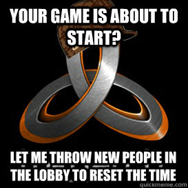 Your game is about to start? Let me throw new people in the lobby to reset the time