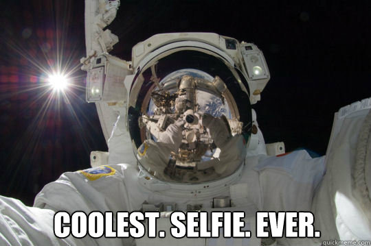 coolest. selfie. ever.