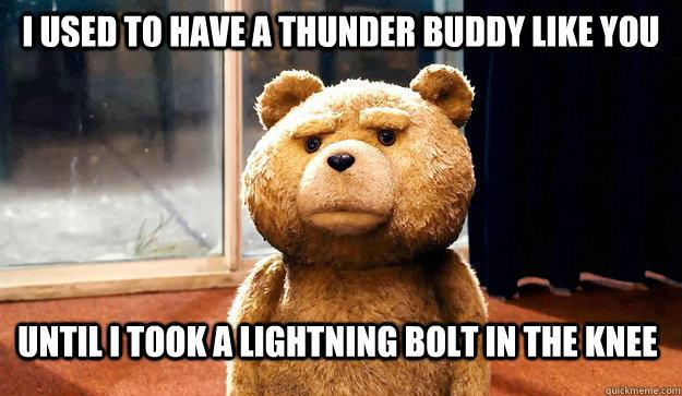 Thunder Buddy Ted memes   quickmeme