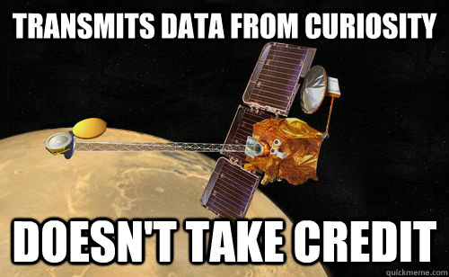 transmits data from curiosity doesn't take credit - transmits data from curiosity doesn't take credit  Mars Odyssey